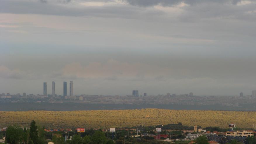 Boina de contaminación sobre Madrid