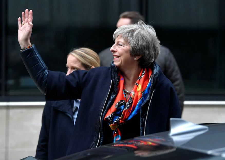 La premier británica, Theresa May