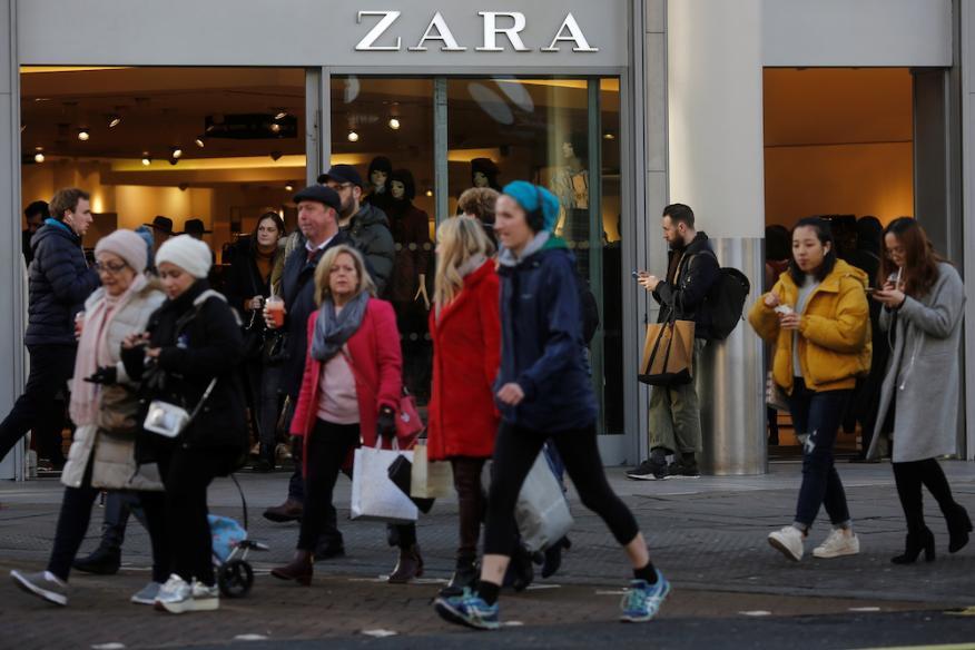 Compradores en Zara