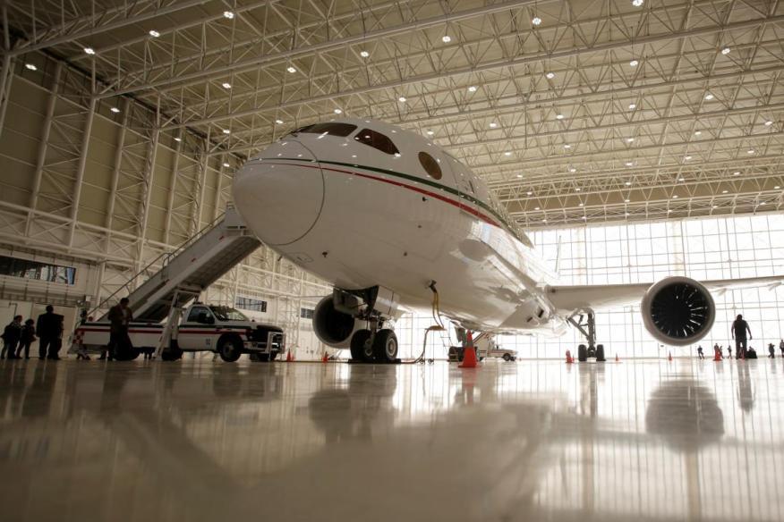 El avión del presidente Mexicano