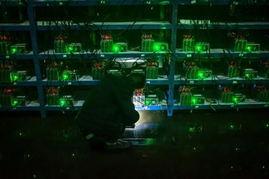 Una mina de Bitcoin en China.