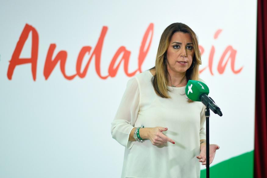 Susana Díaz, secretaria general de la federación andaluza del Partido Socialista Obrero Español.