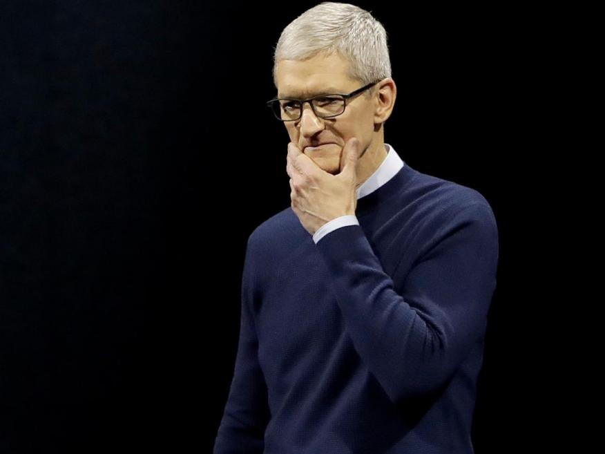 Tim Cook, CEO of Apple, which is reportedly seeing disappointing sales of its latest iPhones.