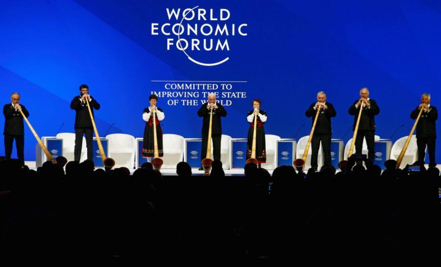 Actuación en el Foro Económico Mundial en Davos.