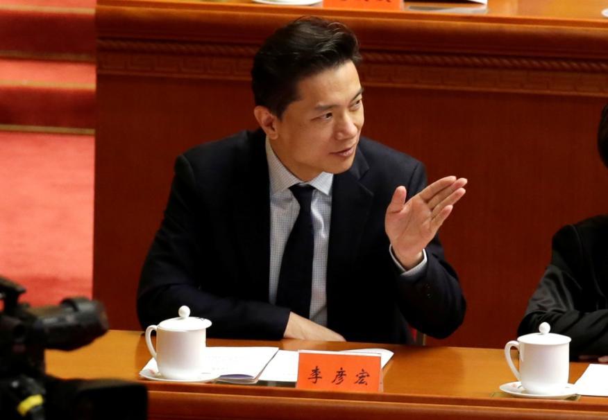 El CEO de Baidu, Robin Li, en un evento en Pekín en 2018.
