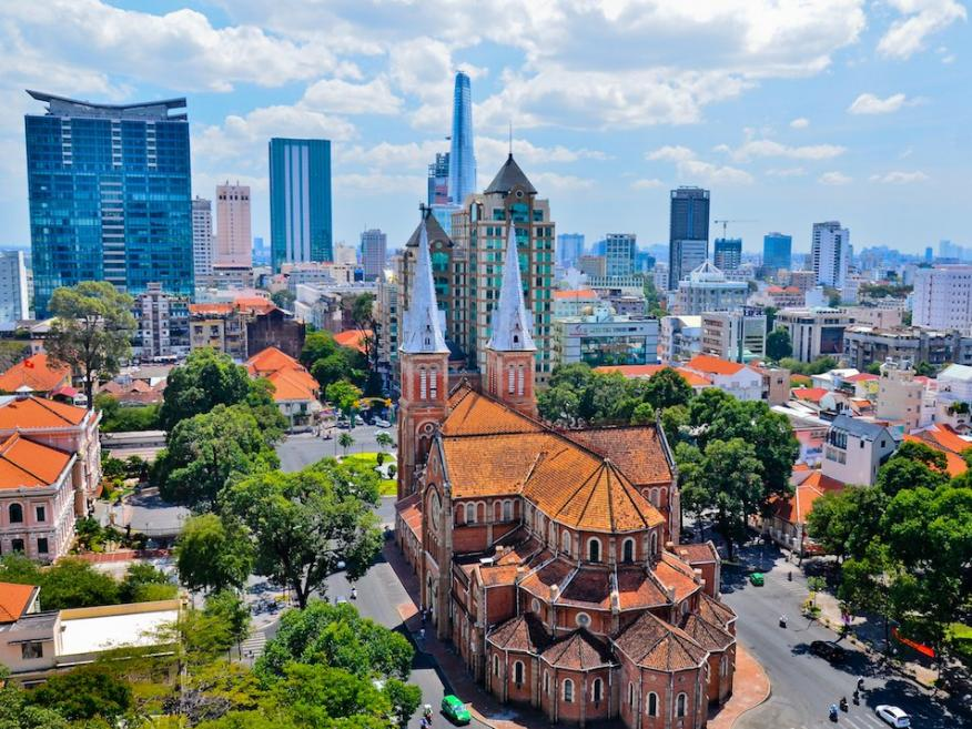 La ciudad vietnamita de Ho Chi Minh.