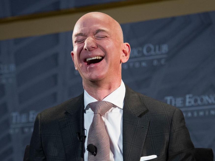 Jeff Bezos, el CEO de Amazon.
