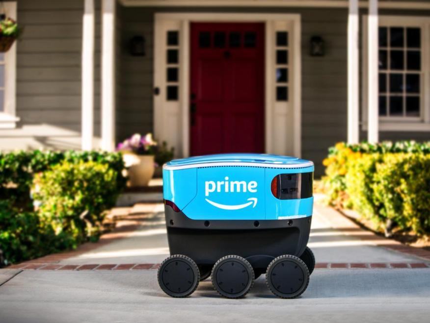 El nuevo robot de entregas de Amazon, el Amazon Scout.