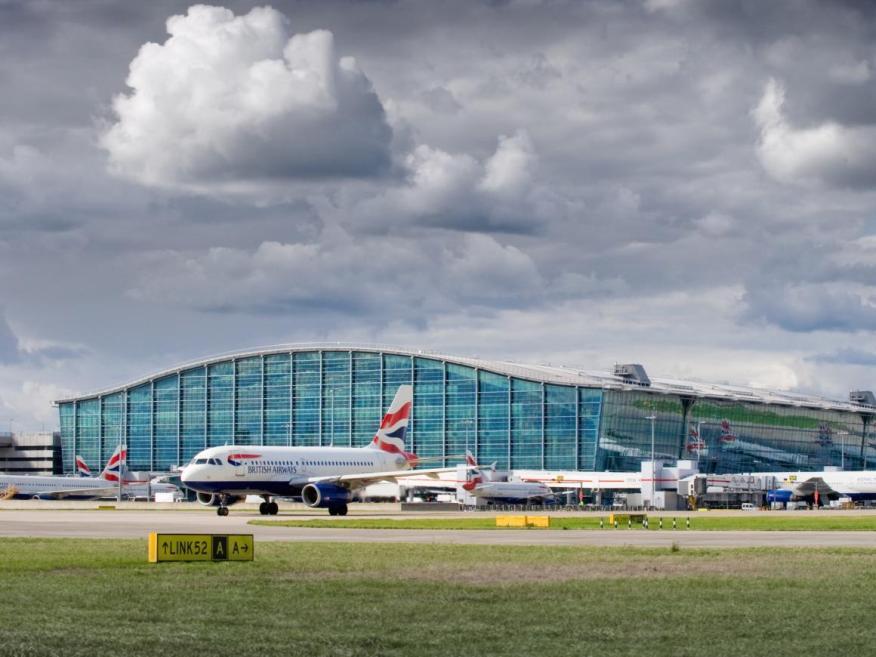 El aeropuerto londinense de Heathrow.