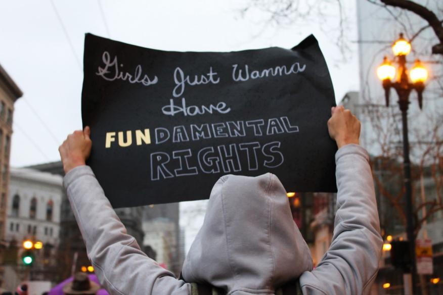 Manifestación pancarta