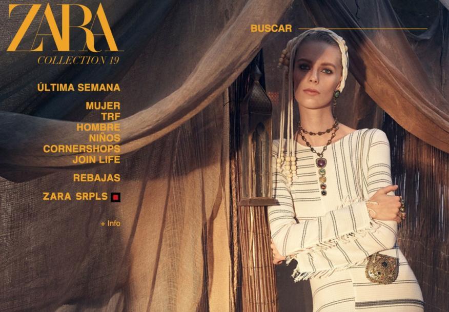 La nueva imagen de la tienda online de Zara