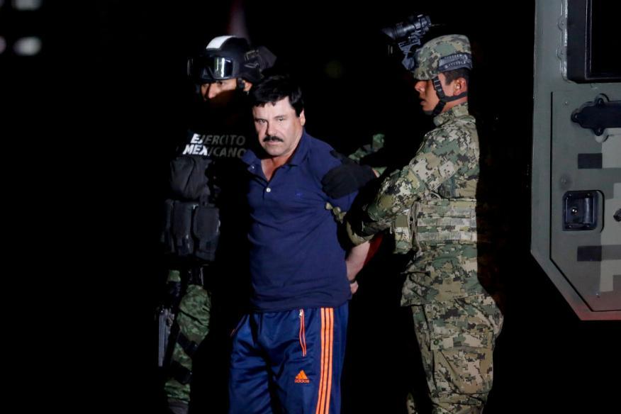 El Chapo Guzmán, en el momento de su arresto.