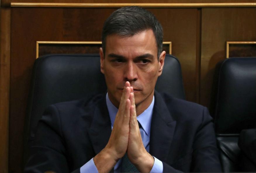 Pedro Sánchez, presidente del Gobierno, en el Congreso.