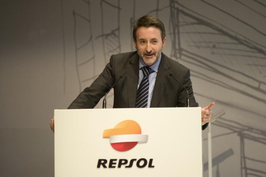 Josu Imaz, consejero delegado Repsol durante la presentación del plan estratégico