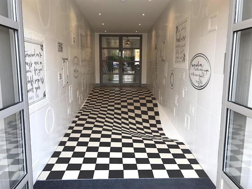 Una ilusión óptica hecha de 400 cuadrados.