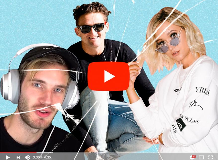 PewDiePie, Casey Neistat y AlishaMarie tienen en conjunto más de 100 millones de seguidores en Youtube.