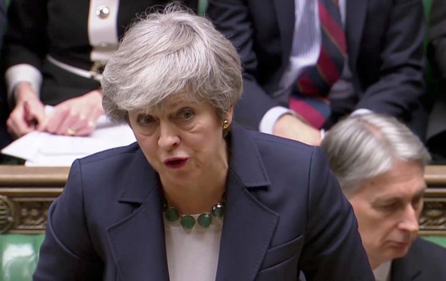 Theresa May, en el Parlamento británico.