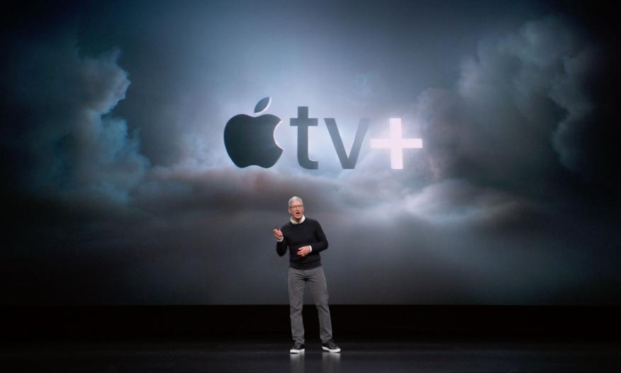 Tim Cook durante la presentación de Apple TV Plus.