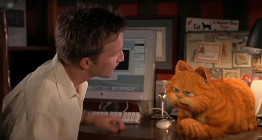 Fotograma de la película Garfield.