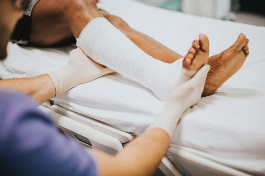 herida, paciente, hospital