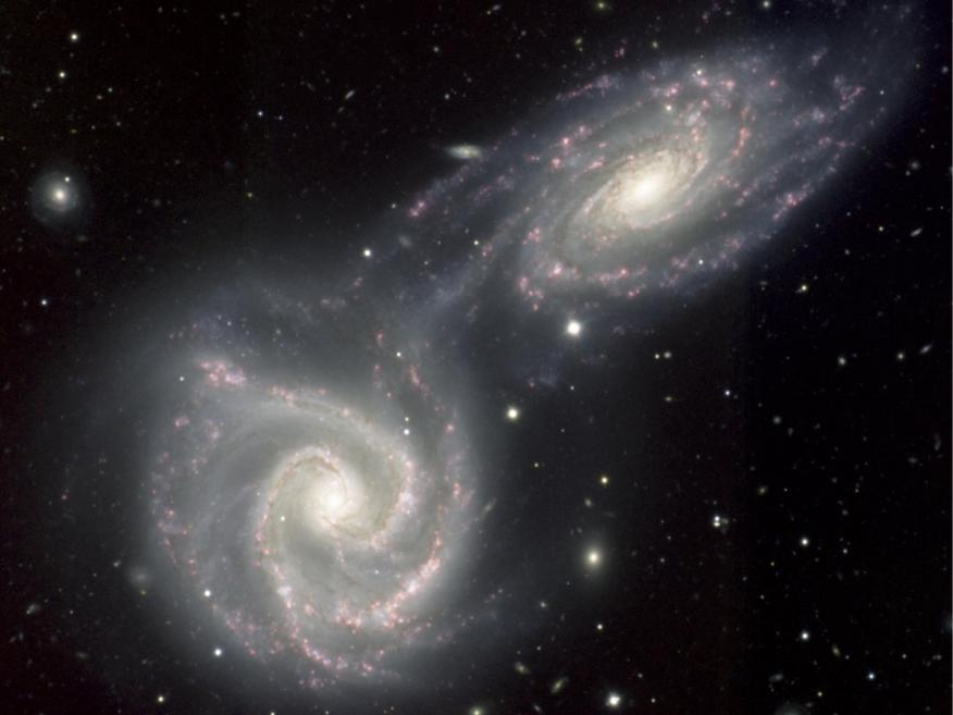 Aunque no podemos ver la materia oscura, se cree que constituye una gran parte de la masa de nuestro universo.