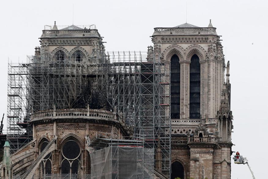 La Catedral de Notre Dame de París, tras el incendio