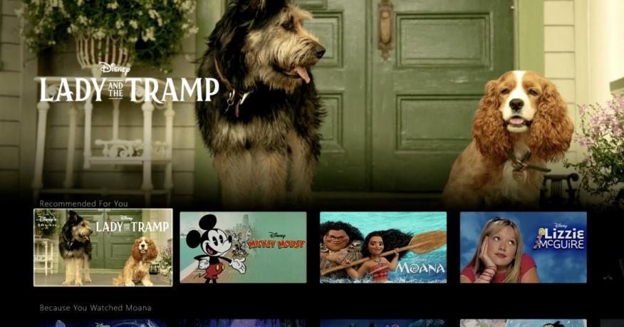 """La demo de la app de Disney Plus muestra el remake de """"Lady and the Tramp""""."""
