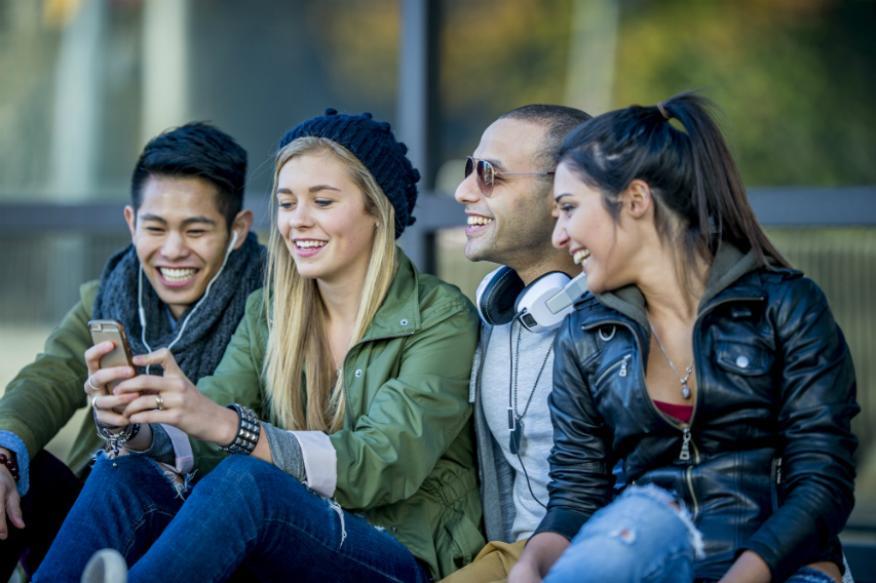 Un grupo de jóvenes de la generación z