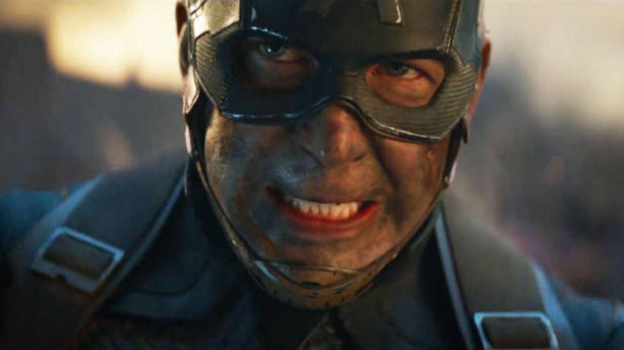 """Chris Evans como Capitán América en """"Avengers: Endgame""""."""
