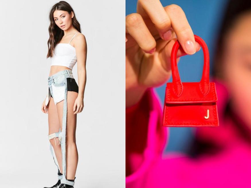 Los jeans rotos de corte extremo y los bolsos de mano diminutos han sido populares en el mundo de la moda.