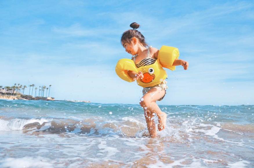 niños, playa, verano