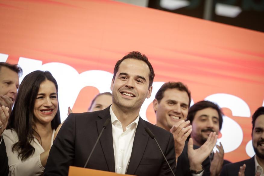 Ignacio Aguado, durante la campaña para las autonómicas.