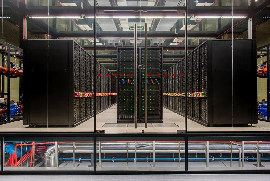 El ordenador MareNostrum, instalado en el BSC.