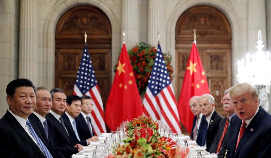 El presidente de Estados Unidos, Donald Trump y el presidente chino, Xi Jinping, reunidos después del G-20 en Buenos Aires.
