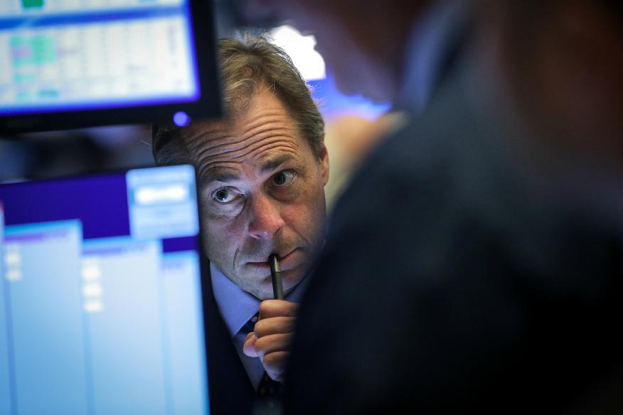 Trader concentrado en Wall Street