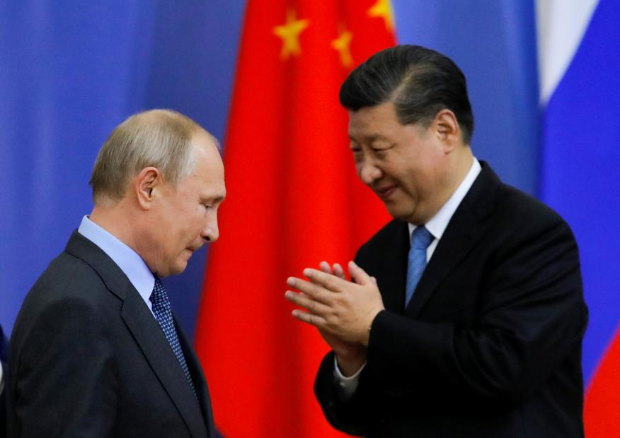Vladimir Putin, presidente de Rusia, y Xi Jinping, secretario general del Comité Central del Partido Comunista de China