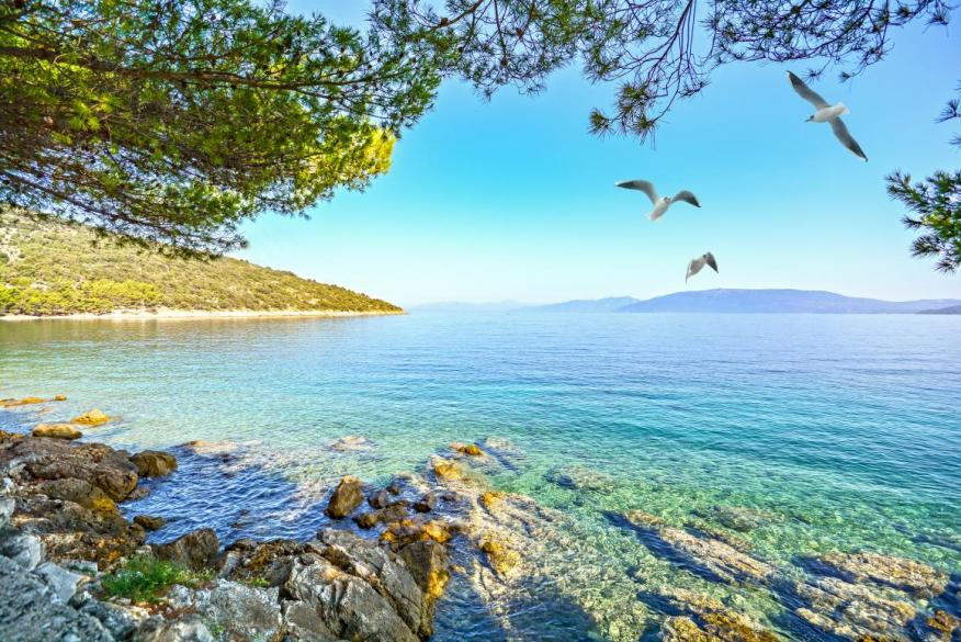 The waters of Croatia are famously turquoise.