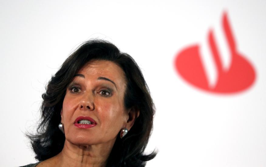 Ana Botín, en un acto del Santander.