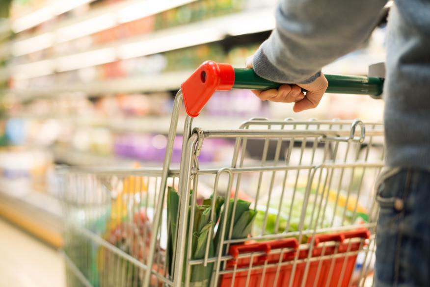 Carro de la compra en el supermercado