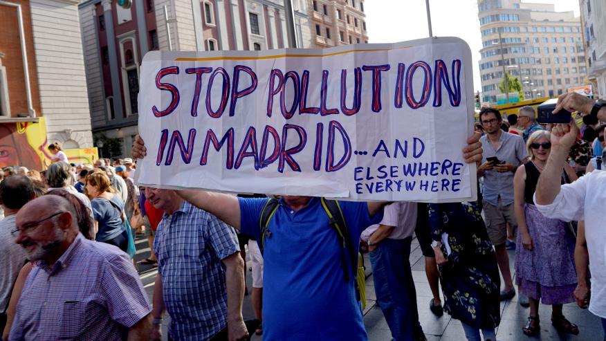Manifestación en Madrid contra la suspensión de Madrid Central.