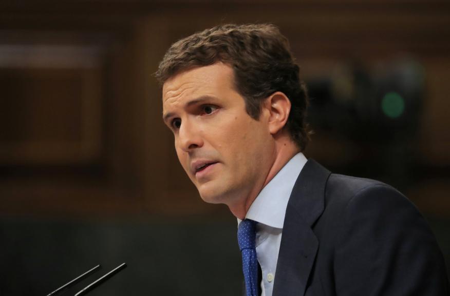 Pablo Casado en el Congreso de los Diputados.