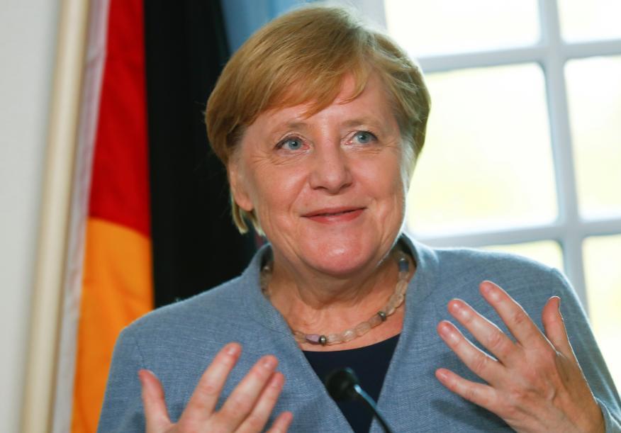 La canciller alemana, Angela Merkel, durante una visita a Islandia.