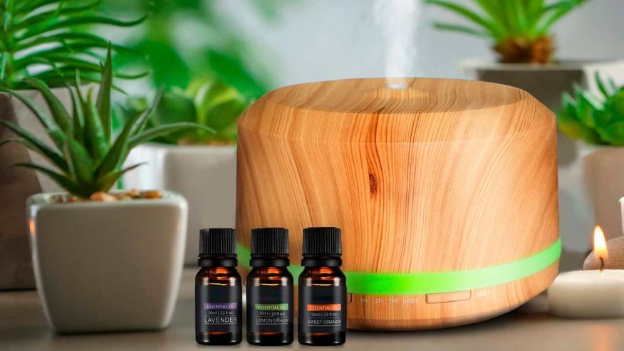 Difusor Aromaterapia de Madera Humidificador Aromaterapia