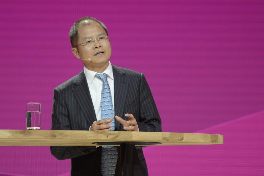 Eric Xu, presidente rotatorio de Huawei.