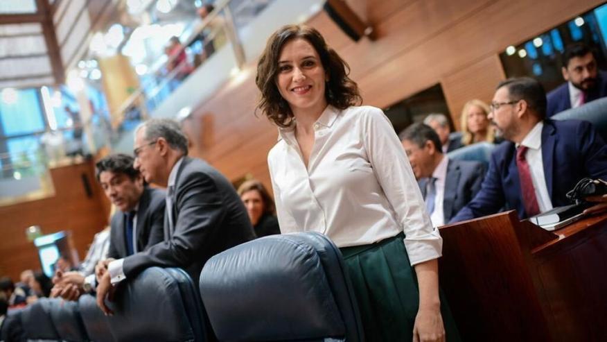 La presidenta de la Comunidad de Madrid, Isabel Díaz-Ayuso.