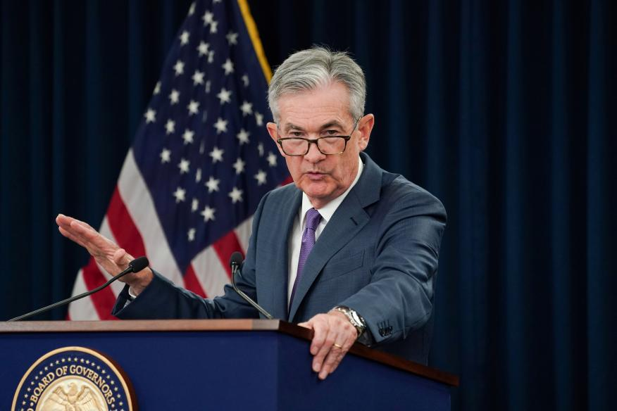 Jerome Powell, presidente de la Reserva Federal.