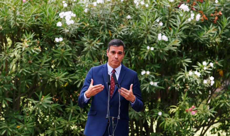 Pedro Sánchez, en verano de 2019.