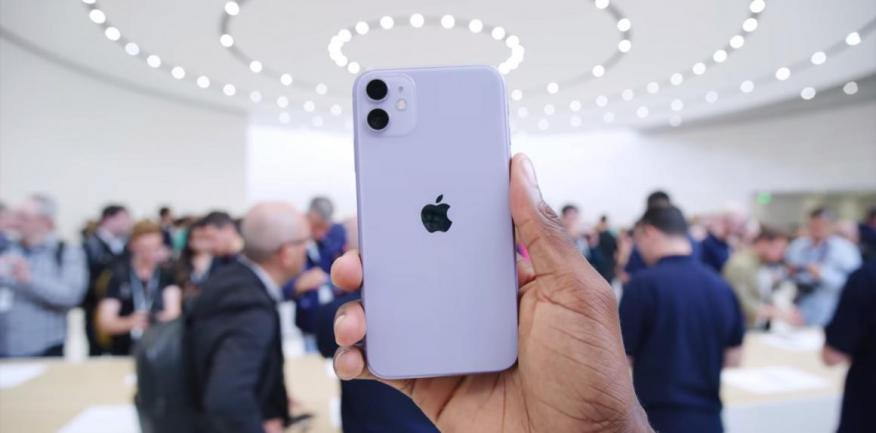 Apple's new iPhone 11, in the new purple color