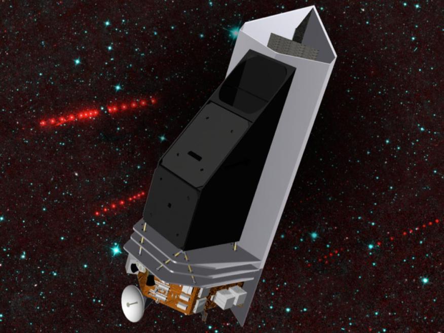 Proyecto artístico de la misión de caza de asteroides NEOCam.
