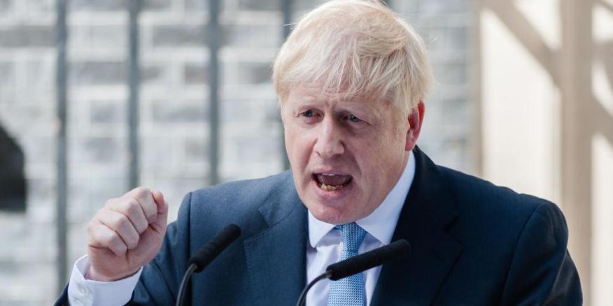 Boris Johnson ha hablado a los medios en la puerta de su casa, en el 10 de Downing Street.